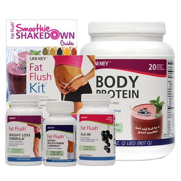 2 Week Smoothie Shakedown Starter Bundle. Includes: Fat Flush Body Protein, Fat  Flush Kit (Weight Loss Formula, Dieters' Multivitamin and Mineral, ...
