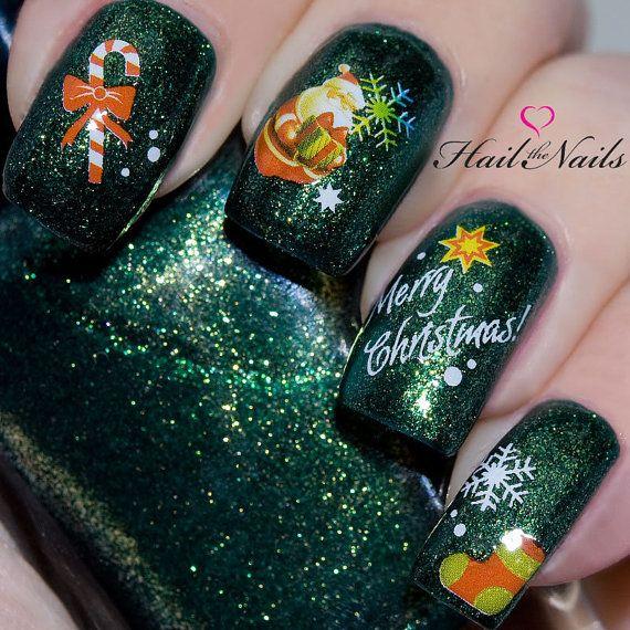 Perfecto Arte Dedo Del Pie Uña Navidad Festooning - Ideas de Pintar ...