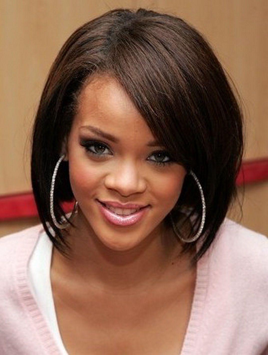 cute bob hairstyles for black hair - Google Search | rihanna ...