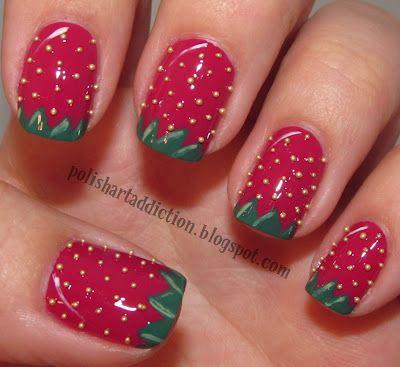 Polish Art Addiction: Strawberry Nail Art - Polish Art Addiction: Strawberry Nail Art ✖ Nail Art