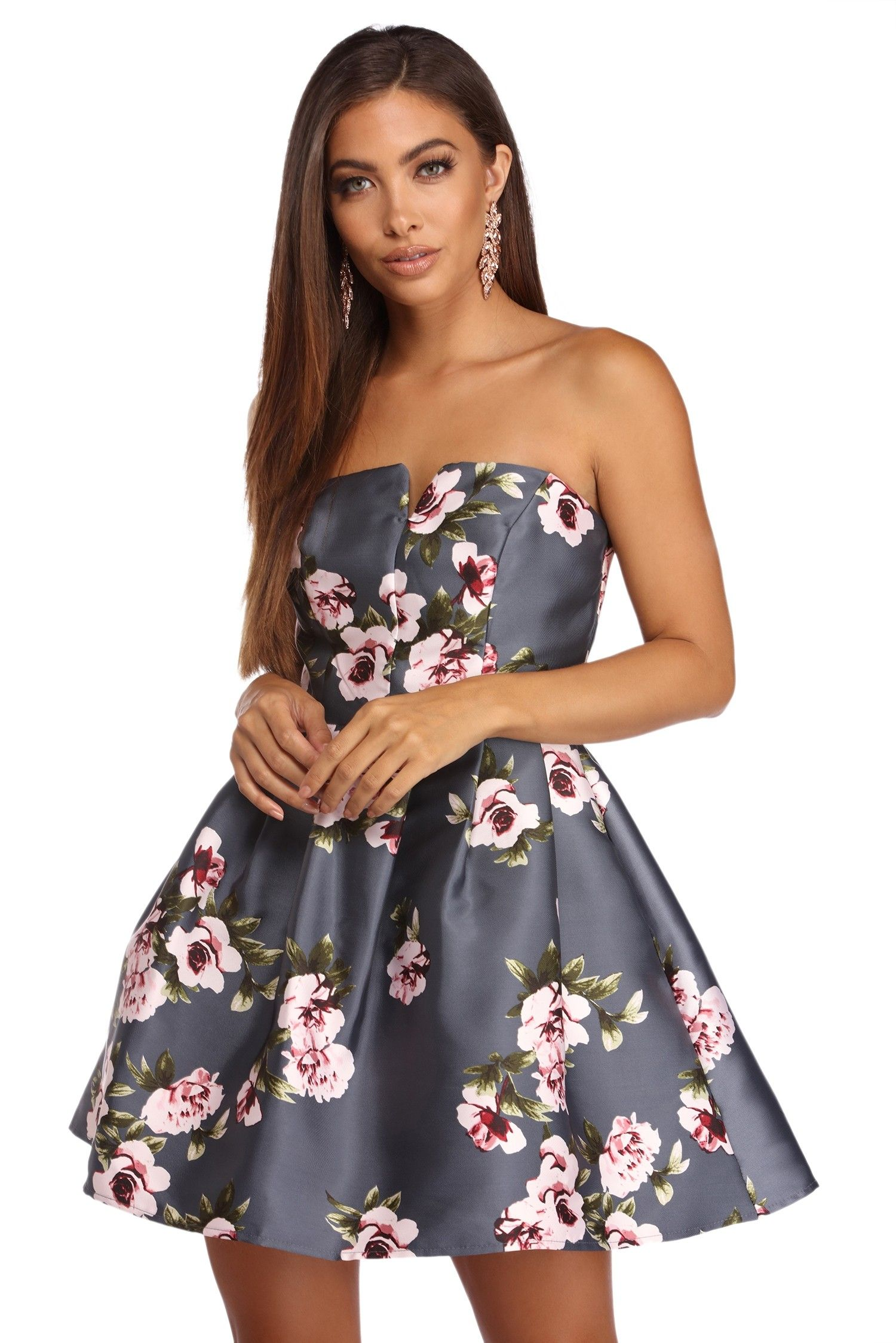 55664483f186 Allie Formal Floral Sweetheart Dress in 2019 | Someday ...