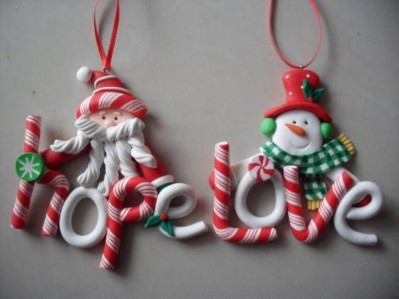 POLYMER CLAY ORNAMENTS | Polymer Clay Christmas Tree Ornaments ...