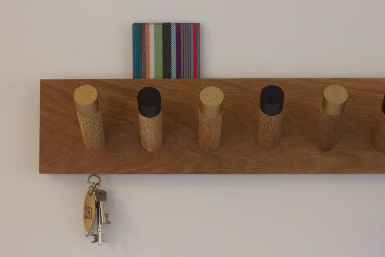 Repurposed Wood /& Cast Iron Coat Hook Rack Key Towel Backpack Holder Hanger