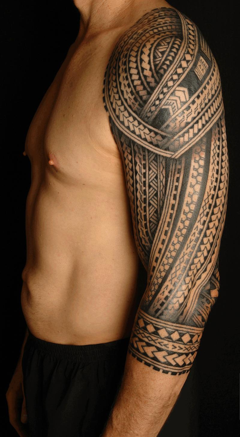 Tatouage Polynesien Bras Motifs Fer Lance Filipinotattoos Uhi