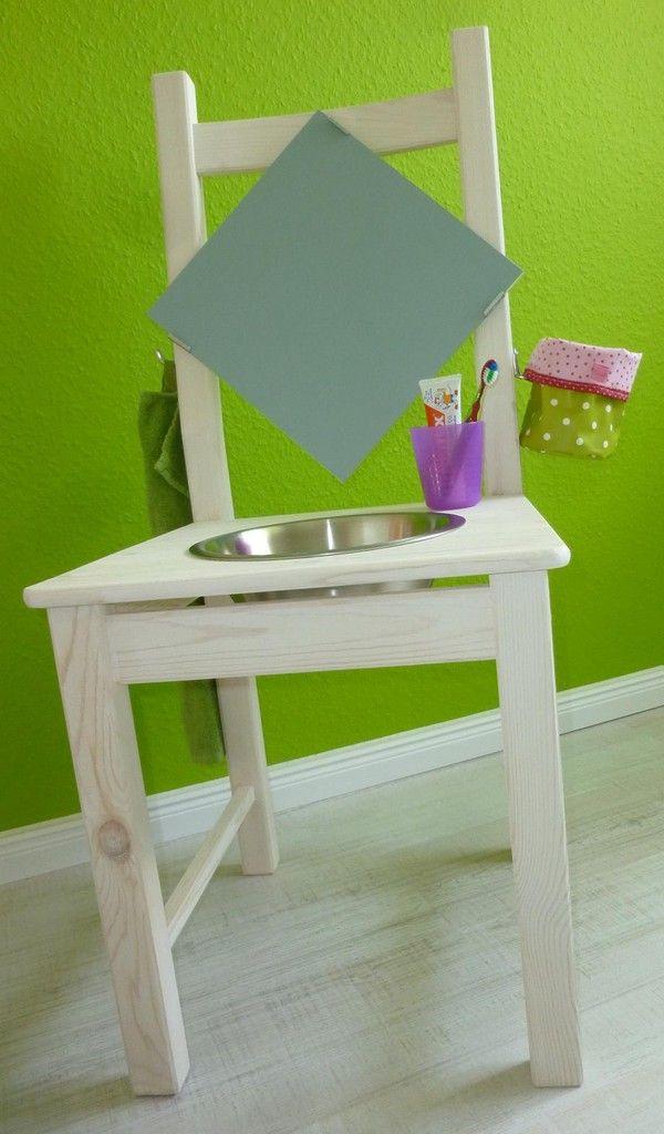 Material Fur Den Kleinen Waschtisch Benotigst Du Einen Holzstuhl