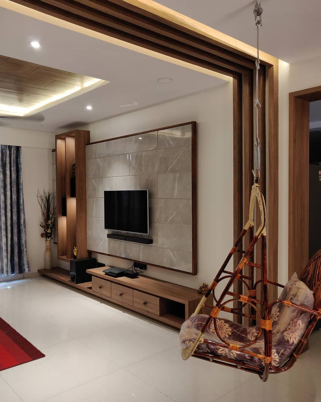 Modern Led Design Wohnideen Schlafzimmer Wohnzimmer Wohnung Dekoration Hausdeko Living Room Partition Design Living Room Partition Room Partition Designs