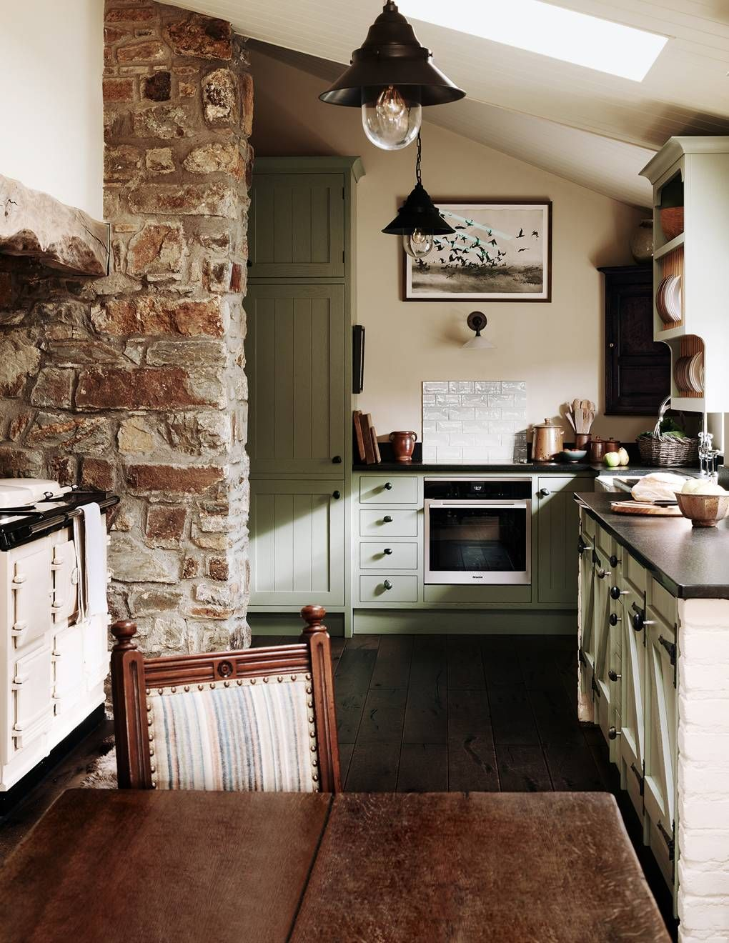 An Understated Stone Cottage Perched High Above The Wild Pembrokeshire Coastline In 2020 Country Cottage Decor Stone Cottage Cottage Kitchens