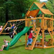 Gorilla Playsets Chateau Swing Set W Amber Posts 01 0003 Ap