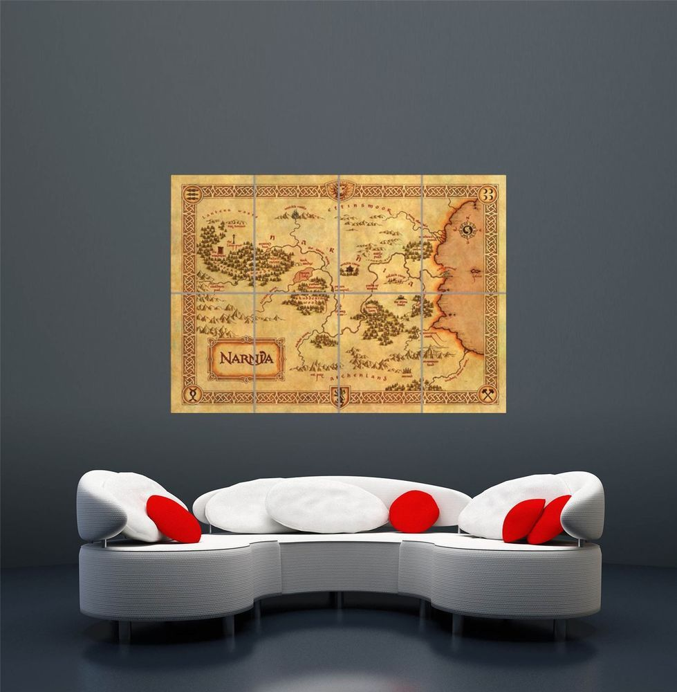 NARNIA MAP CS LEWIS FANTASY CHILDREN KIDS GIANT ART POSTER PRINT  WA404