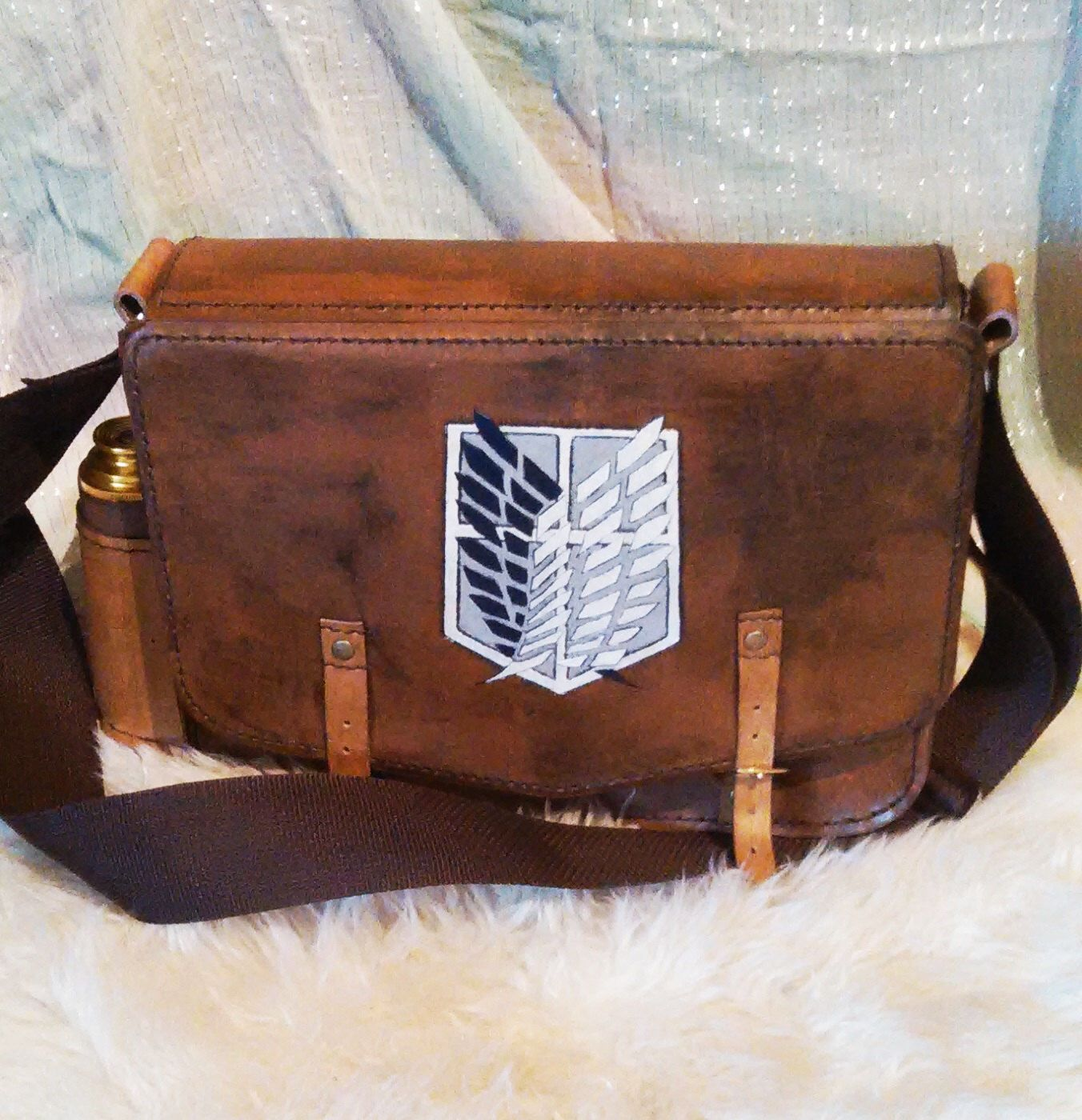 attack on titan messenger bag by luithienscreation on etsy