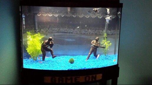 Baseball Themed Fish Tank With Images Fish Tank Fish