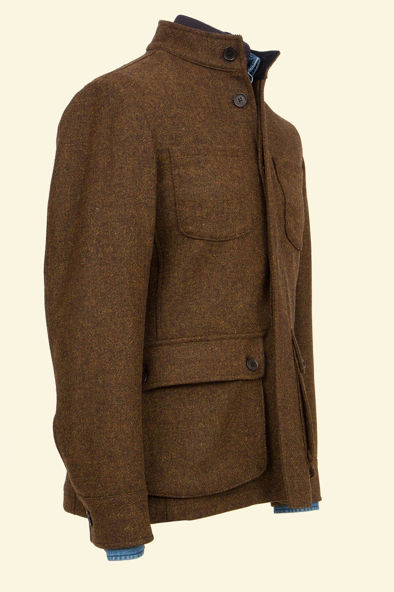 264edbf2a165 Brown Shetland Tweed Clegg II Coat Brown Walker Slater Tweed Specialists