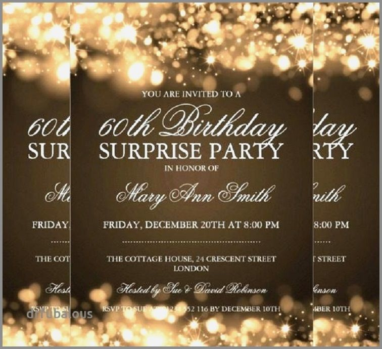 Surprise Party Invitations Free Download Surprise Party Invitations 60th B In 2021 Surprise Party Invitations Party Invite Template Surprise Birthday Party Invitations