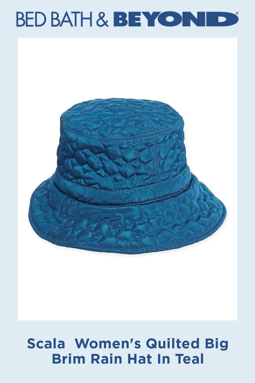 Scala Women S Quilted Big Brim Rain Hat Bed Bath Beyond Rain Hat Quilt Big Quilted