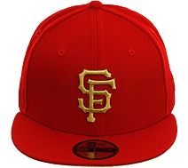 0076ea74 New Era 5950 San Francisco Giants Fitted Hat - Red, Metallic Gold. $34.99