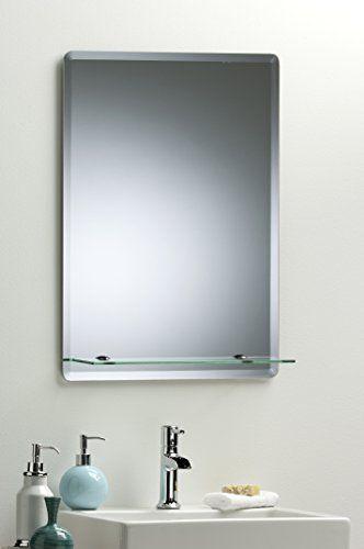 Neue Design Arch Bathroom Wall Mirror Modern Stylish With Shelf and Bevel Plain 60cm X 45cm
