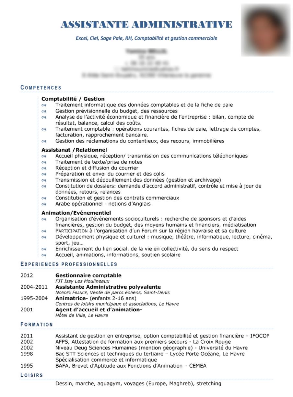 Exemple Cv Exemple Cv Assistante Administrative Trouver Un Emploi Rapidement