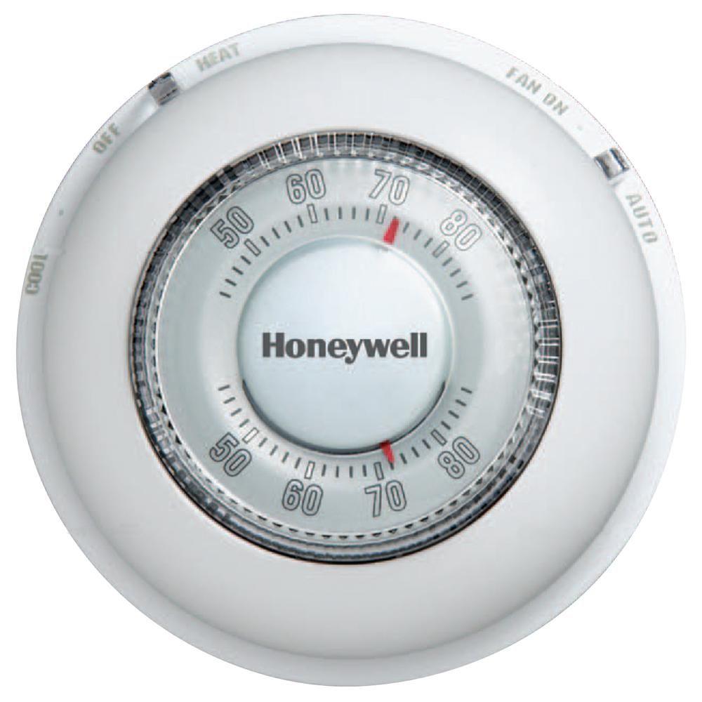 Honeywell Round White LowVoltage 24Volt 1 Stage Heat