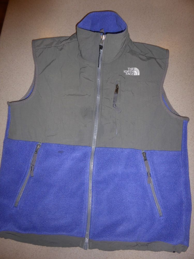 477c333a9 Vintage The North Face Purple Gray Womens Denali Vest Fleece sz M ...