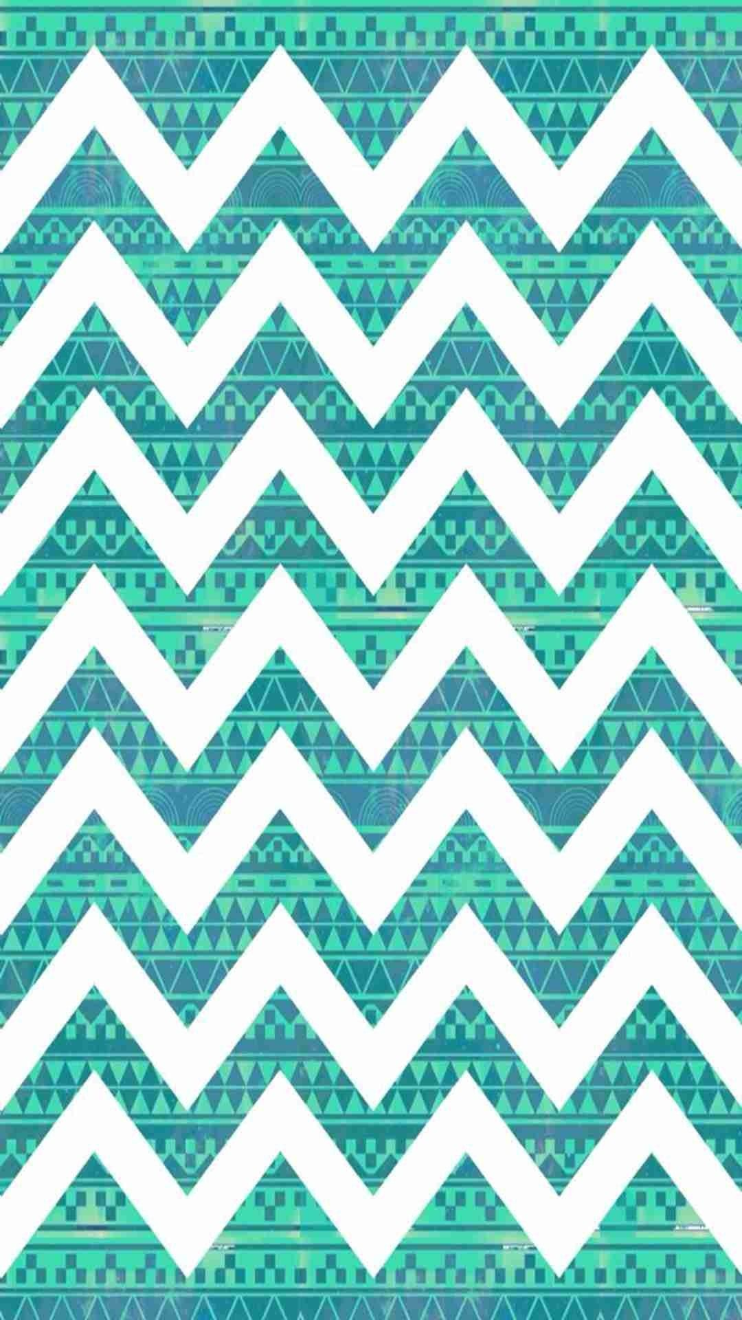 Chevron print background - Tribal Print Turquoise Blue Chevron Iphone 6 Plus Wallpaper Zigzag Print Pattern