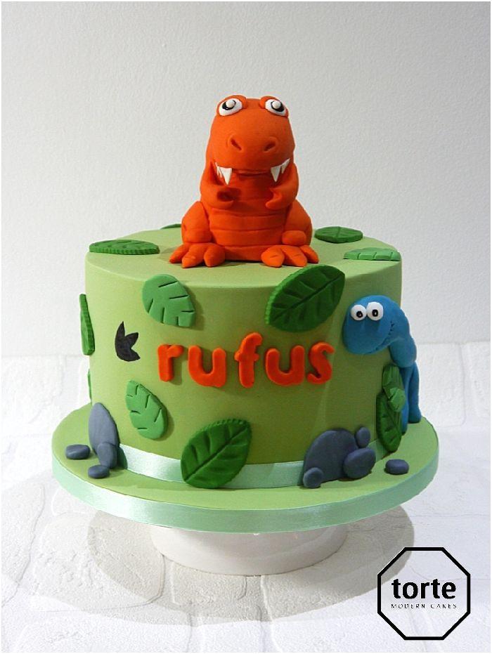 Baby Tyrannosaurs Rex Birthday Cake Trex Birthday Cake Dinosaur