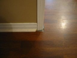 Gaps Under Door Casing Need Options To Fix Gap Left From Laminate Molding Messup Diy Home Molding Diy Home Improvement Home Remodeling