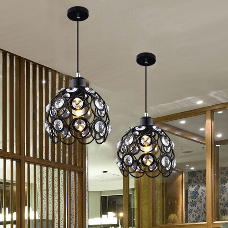 5w modern crystal pendant lamps design whiteblack iron chandelier 5w modern crystal pendant lamps design whiteblack iron chandelier for home lights bar living aloadofball Images