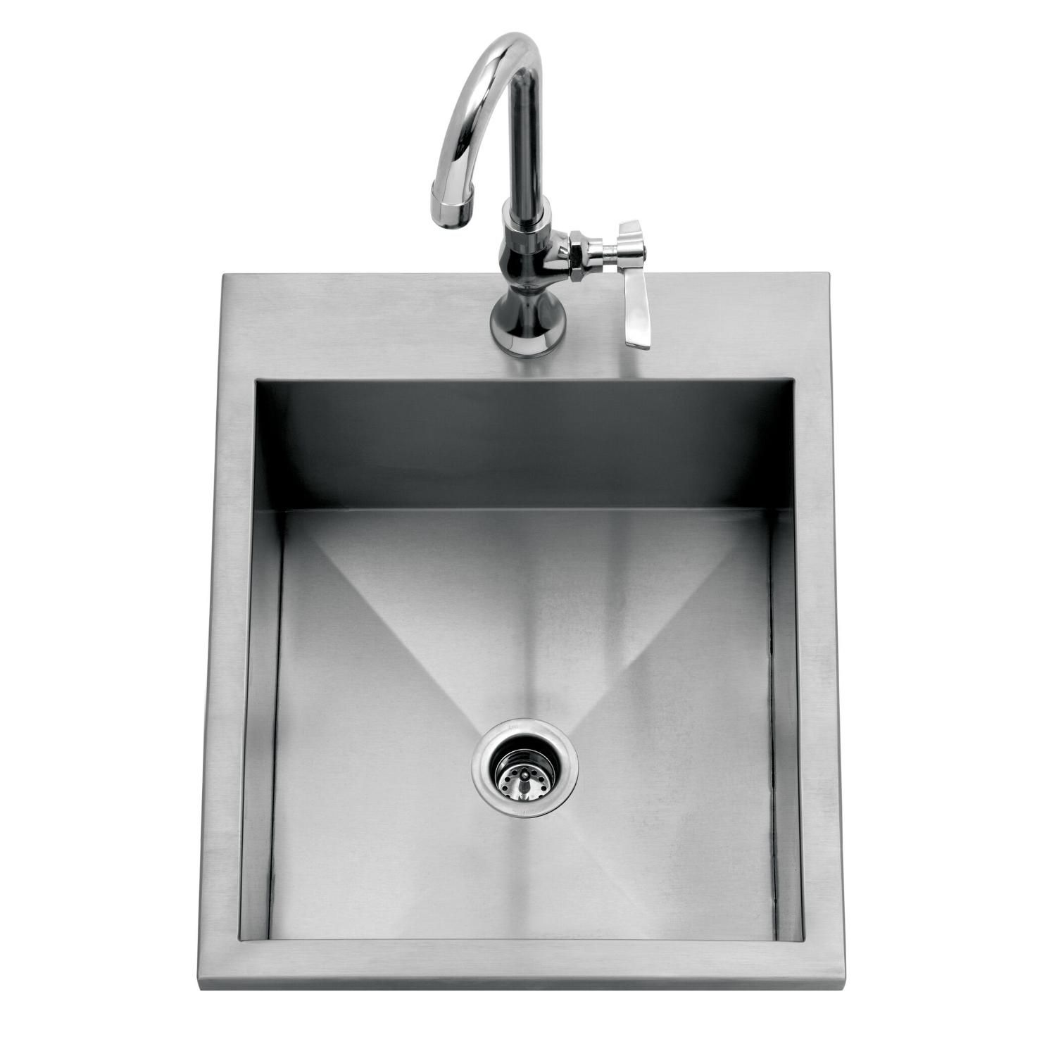 Delta Heat 15 Inch Drop In Outdoor Rated Bar Sink With Cold Water Faucet Dhos15 Outdoor Sinks Sink Bar Sink