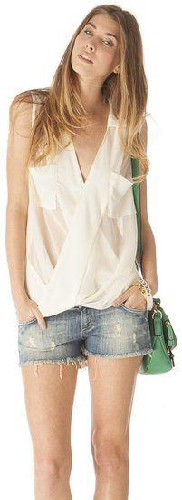 Lulumari silk wrap blouse ($41)