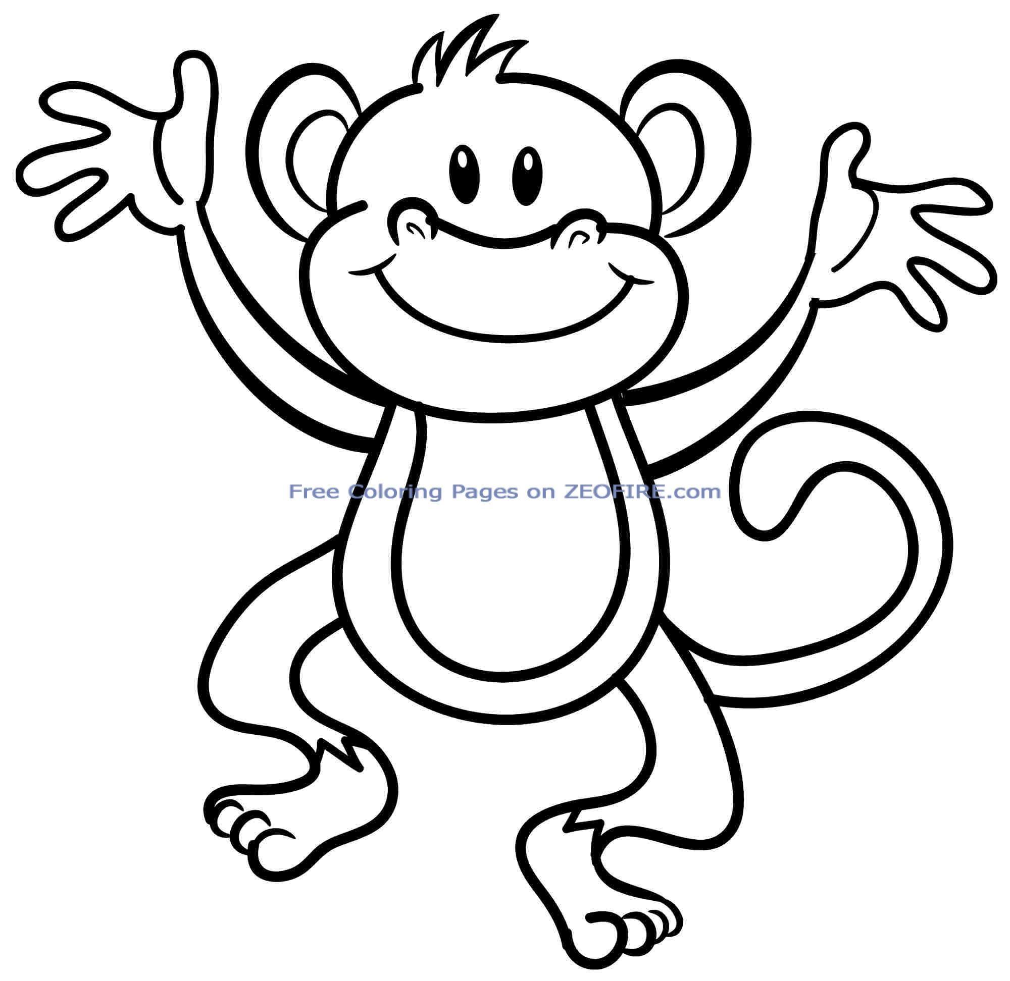 For Preschool #27100 Check More At Httpwwwmcoloringcomindexphp 20150908Animal Monkeys Colouring Sheets Printable Free For Preschool 27100