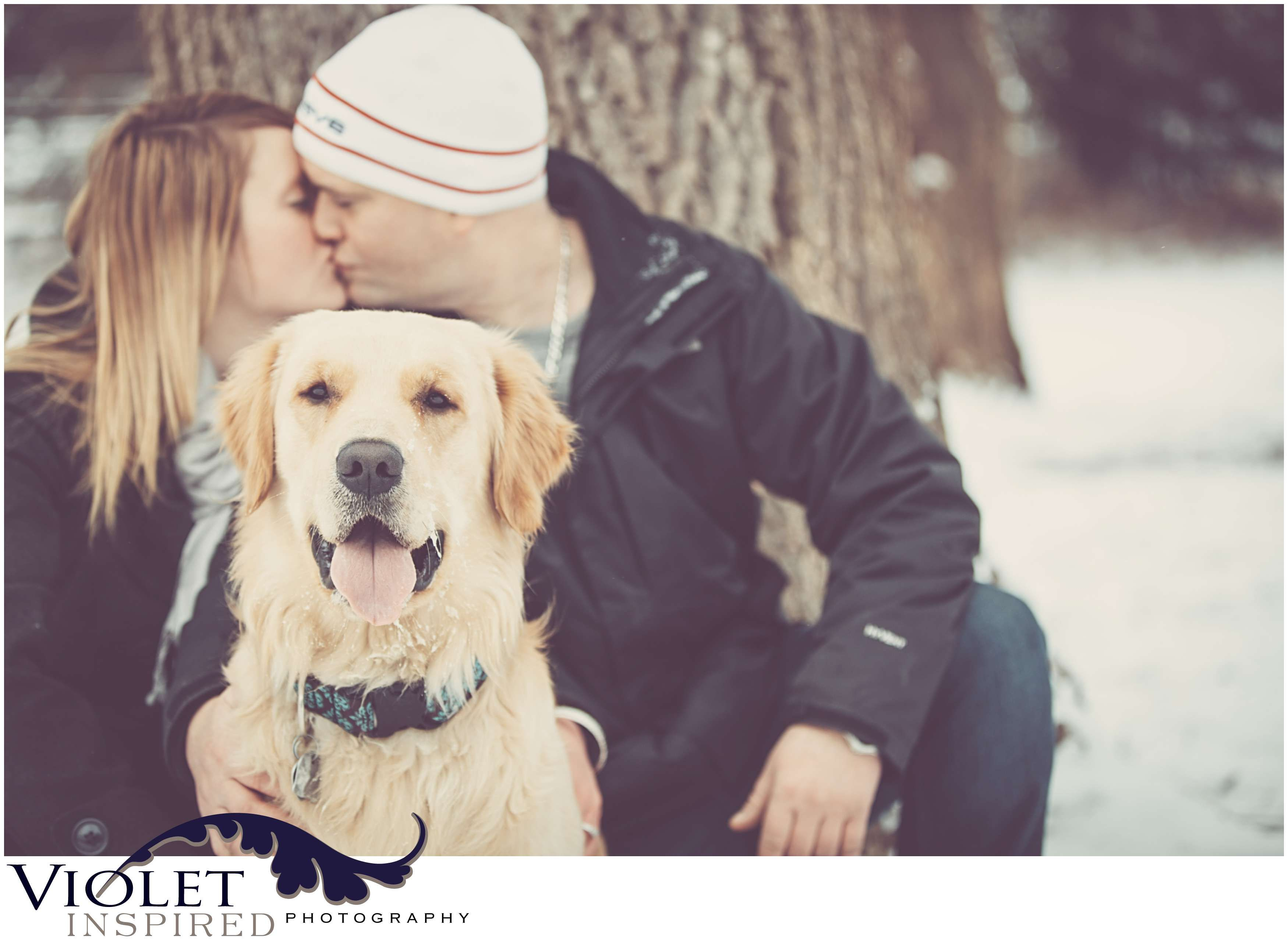 Engagement Photo Shoot With Your Dog Snow Engagement Photos Winter Couple Pictures Winter Engagement Photos
