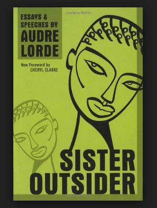 sister outsider lorde audre clarke cheryl