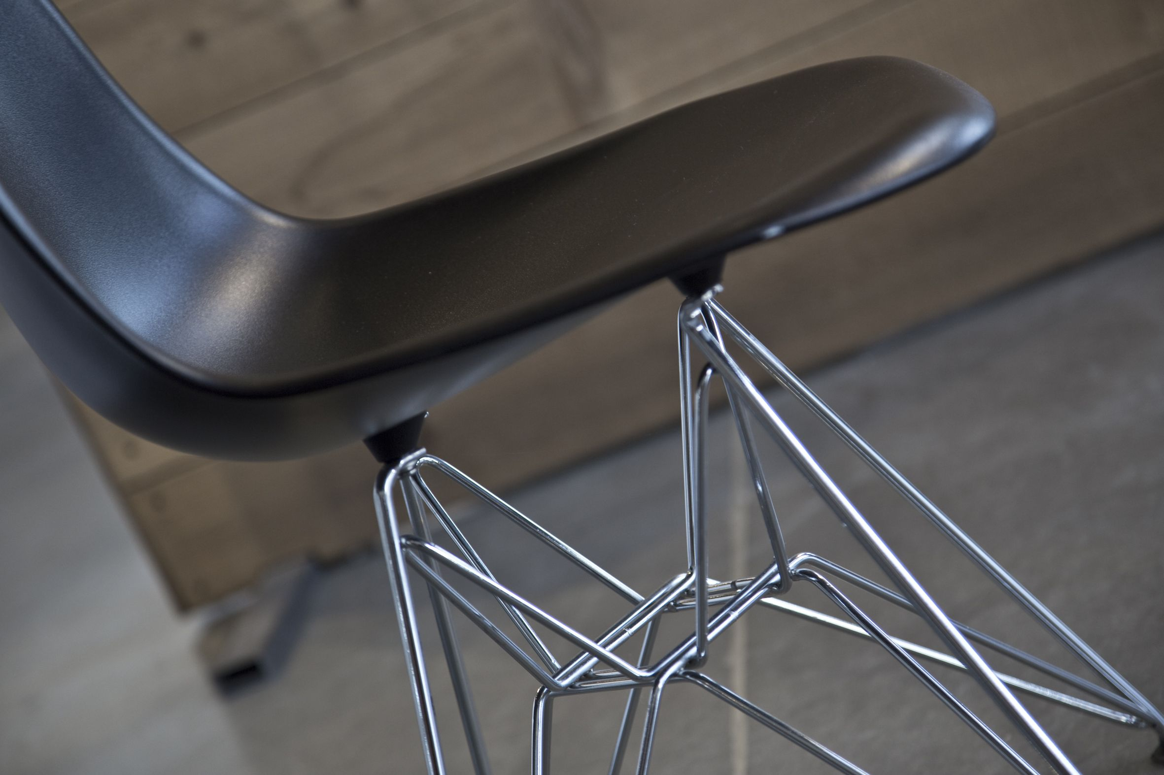 Cairo Chair black with metal legs. Our Cairo Chair is
