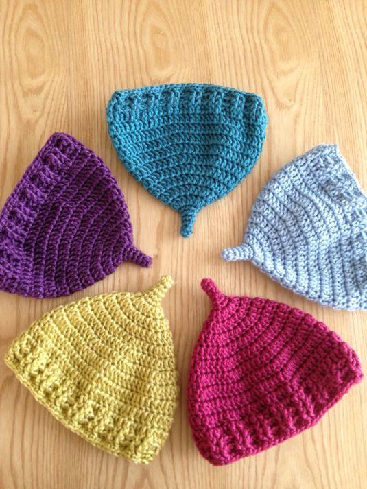 帽子完_秋冬どんぐり帽子|ツクリモノ|どんぐり帽子、かぎ針編み