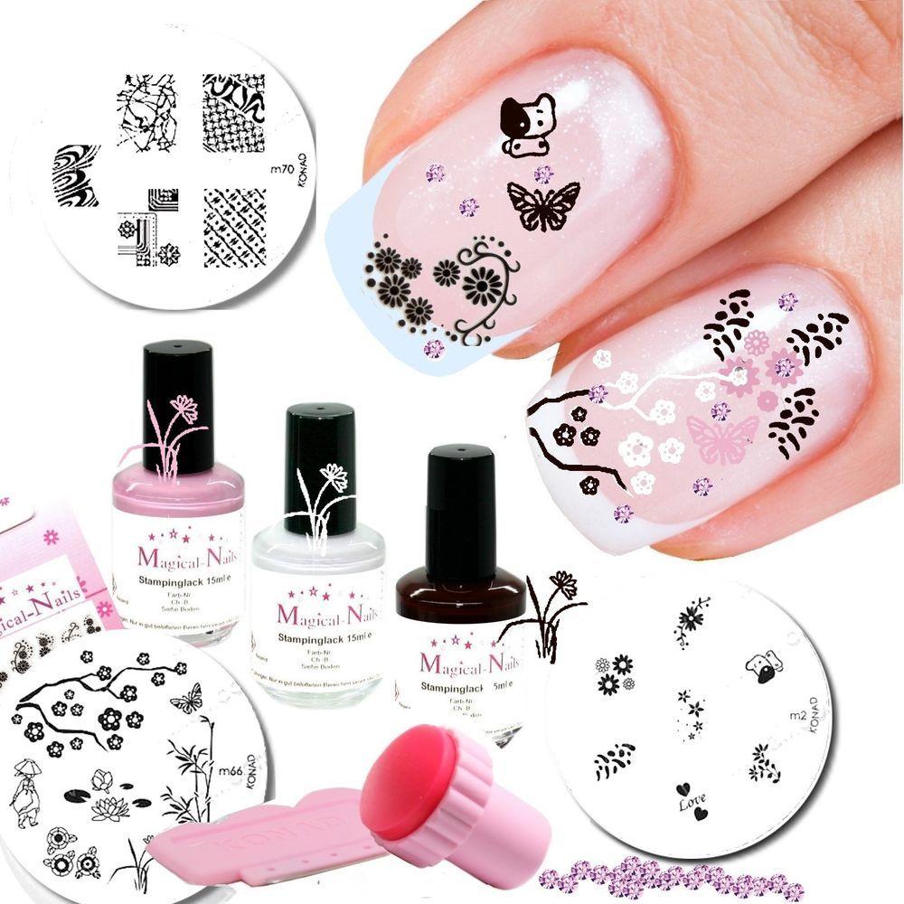Konad Stamping Set 45 Rabatt Ca 1270 Teile Nail Art