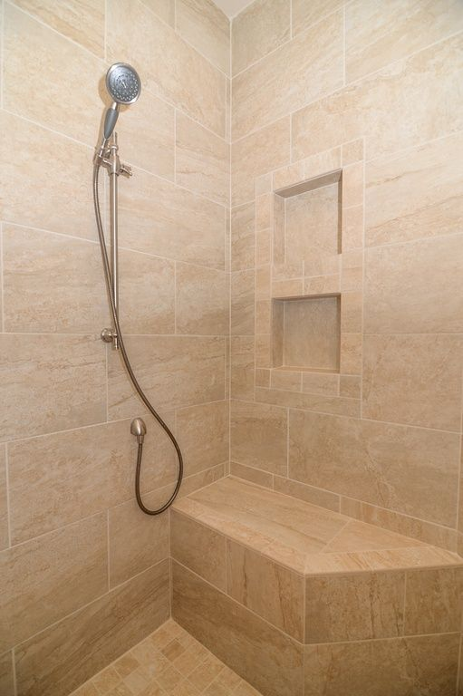 Traditional 3/4 Bathroom With Moen Chrome/polished Brass Handheld Shower,  Handheld Showerhead