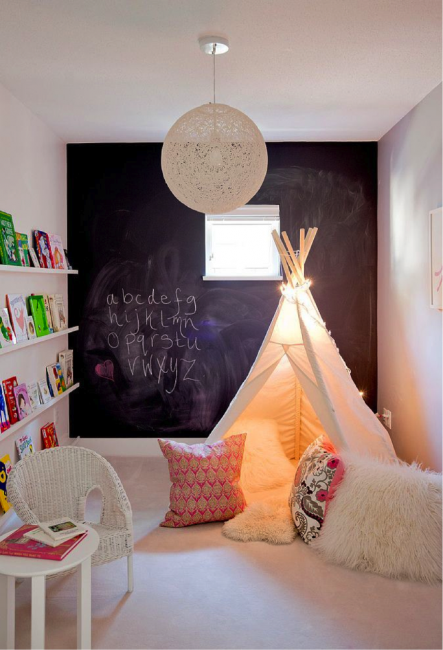 Get your kids hooked on books with a teepee reading area. & Get your kids hooked on books with a teepee reading area. | For The ...