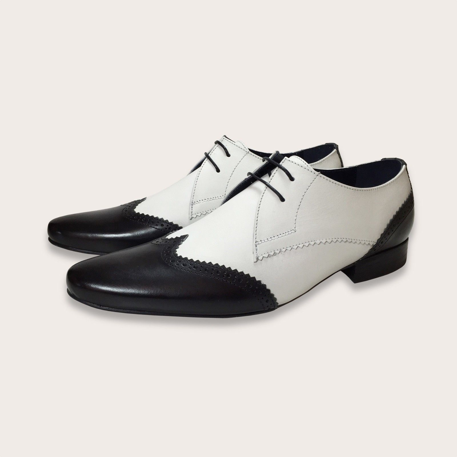 7ea73f4bc19 Black and White Brogues Men's Spectator Shoes in 2019 | Spats Shoes ...