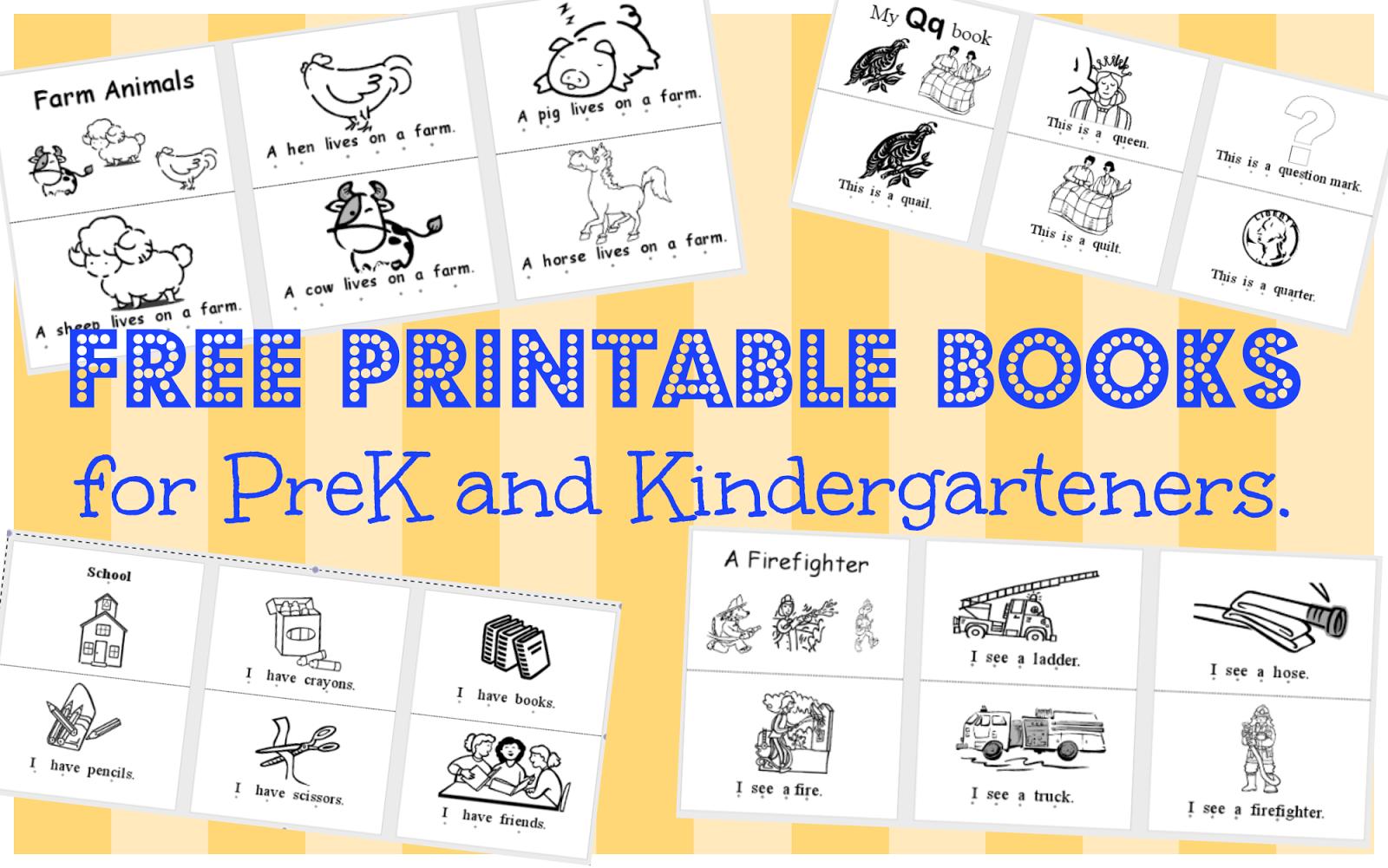 9 best images about free printable books for kindergartners on pinterest - Printable Kindergarten Books