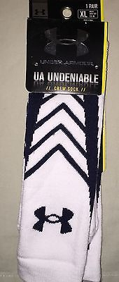 MENS UNDER ARMOUR UNDENIABLE CREW SOCKS NWT FITS SHOE SIZE 9 -12.5