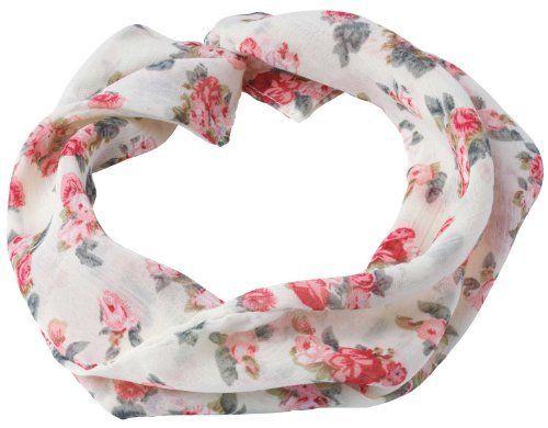 Pretty Pink//White Womens Head Chiffon Scarf Fashion Accessories Sale