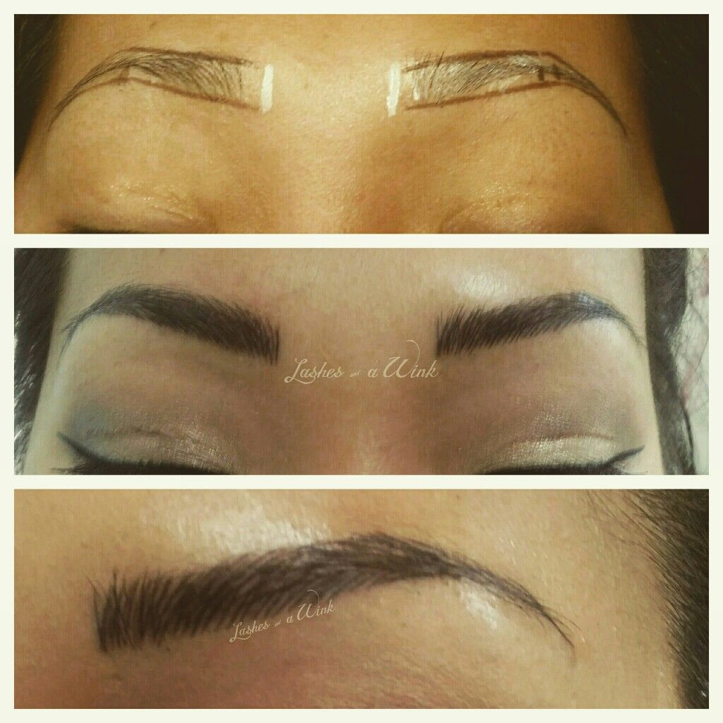 Beautiful Brows Created Using The Microblading Technique Here In Va