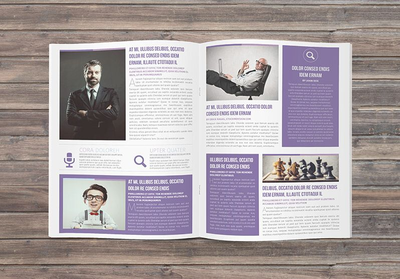 A Free Newsletter Indesign Template Multipurpose Newsletter