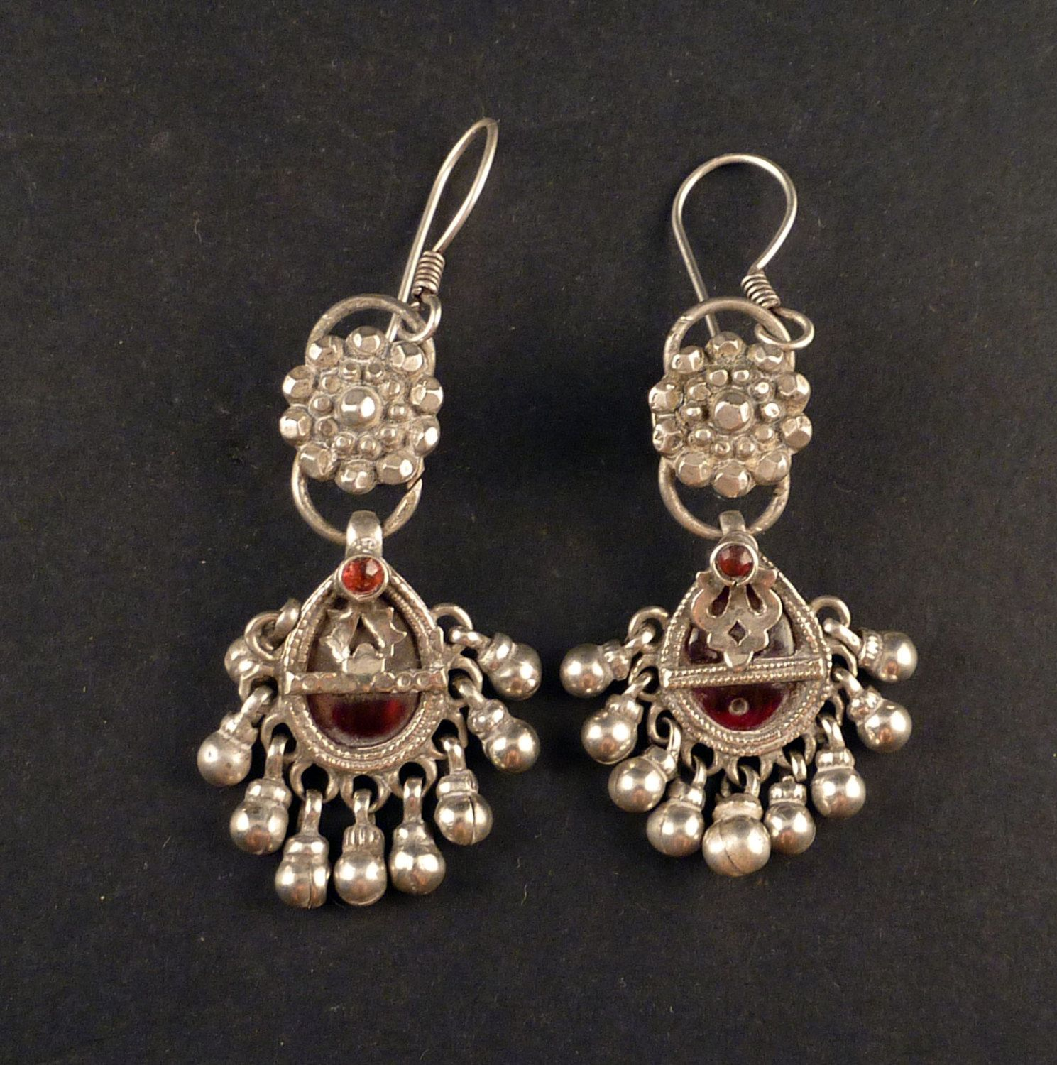 rajasthani hanging buy black ozanoo earrings traditional product