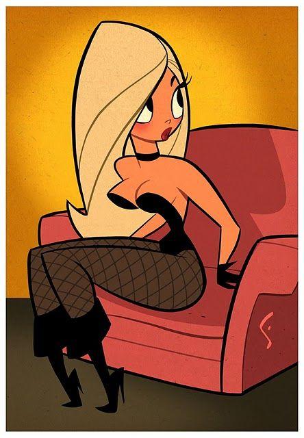 Blacks on blondes cartoons