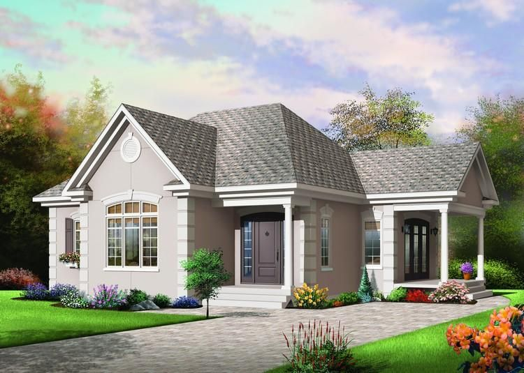 House Plan 034 00275 Country Plan 1 108 Square Feet 1 Bedroom 1 Bathroom Craftsman Style House Plans Cottage Style House Plans Country Style House Plans