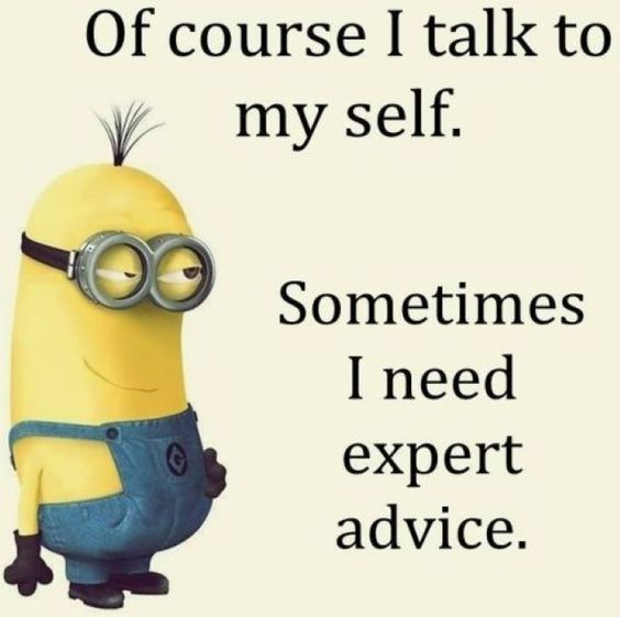 Of Course I Talk To Myself Funny Cute Cartoon Animated Lol Minions Clever Minion Quotes Funny Minions Minions Funny Funny Minion Memes Funny Minion Pictures
