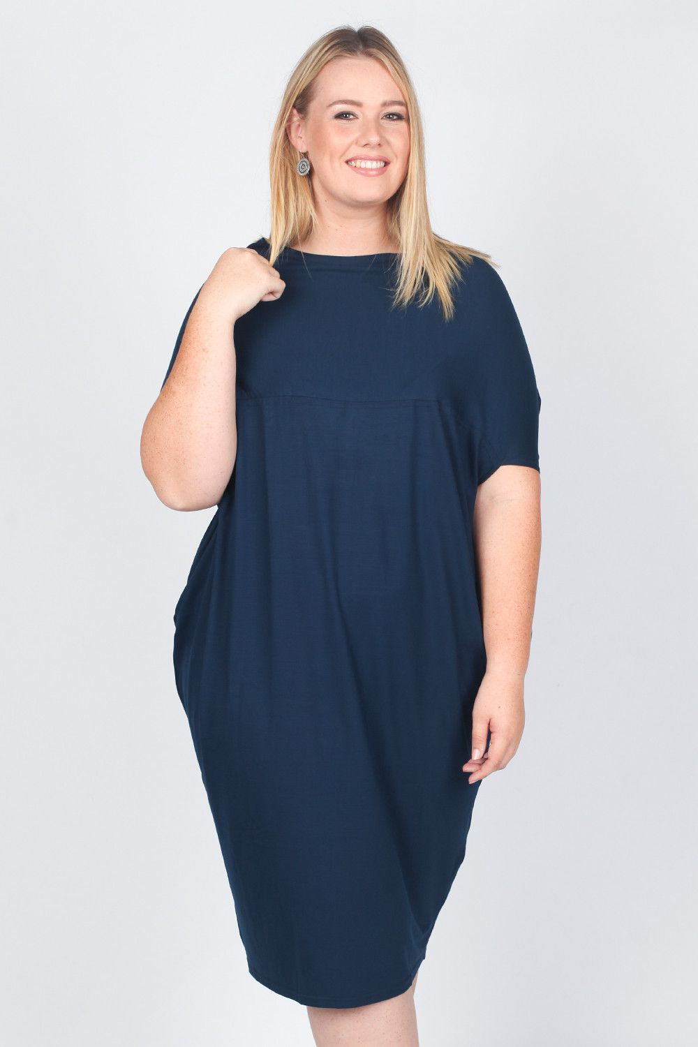 Surafina Cocoon Dress in Navy (PS)