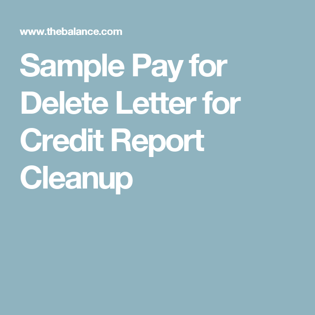Need To Send A Pay For Delete Letter Use This Easy Template - Pay for delete letter template