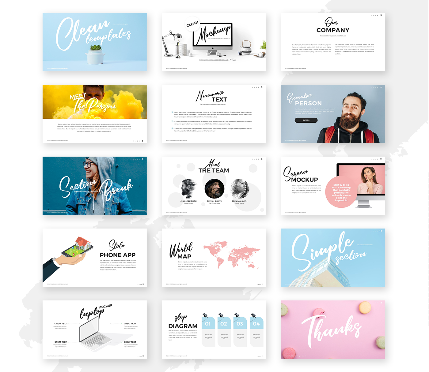 Clean Powerpoint Template Pixelify Best Free Fonts